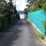 豊岡海岸への接道(外観)